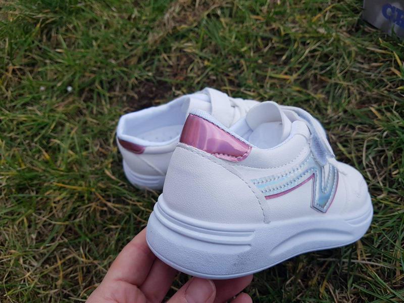 Модные кроссовки для девочки на липучке р.31-36 наложка - Фото 7