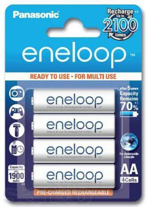 Аккумуляторы Panasonic Eneloop 2000 mAh AA, HR6, 4 шт.