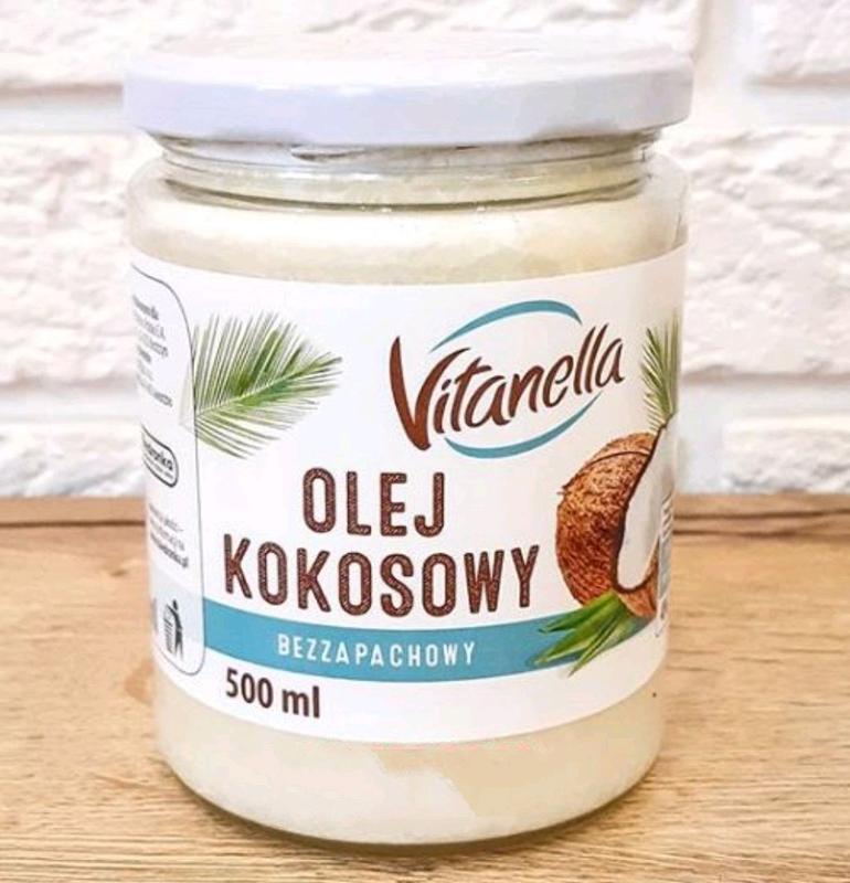 Кокосовое масло рафинированное Olej Kokosowy Vitanella