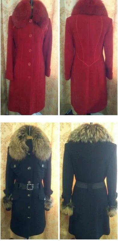 Пальто зимние из натуральной шерсти.