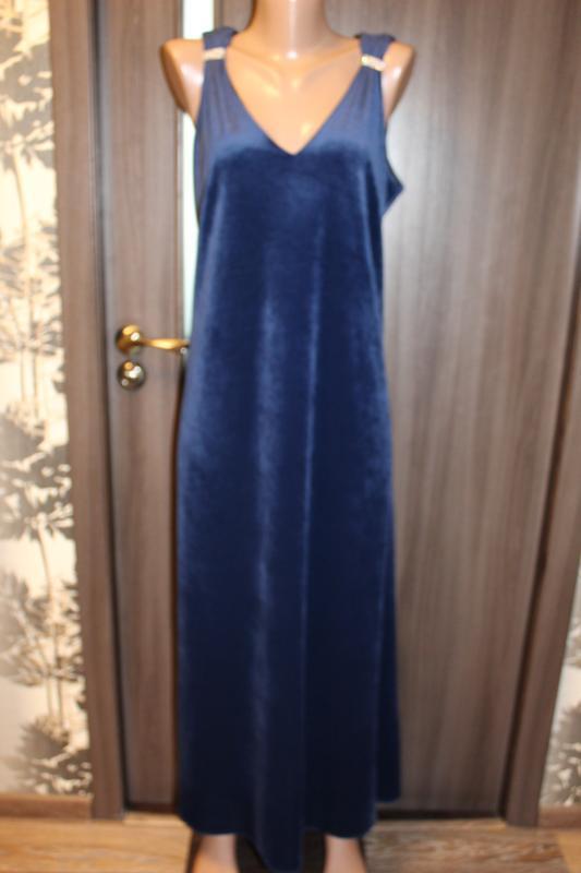 Новое вечернее бархатное платье agenda размер 3xl