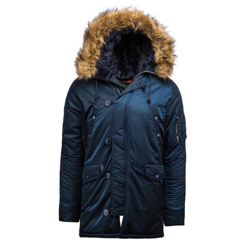 Куртка аляска Slim Fit N-3B Parka (синя)