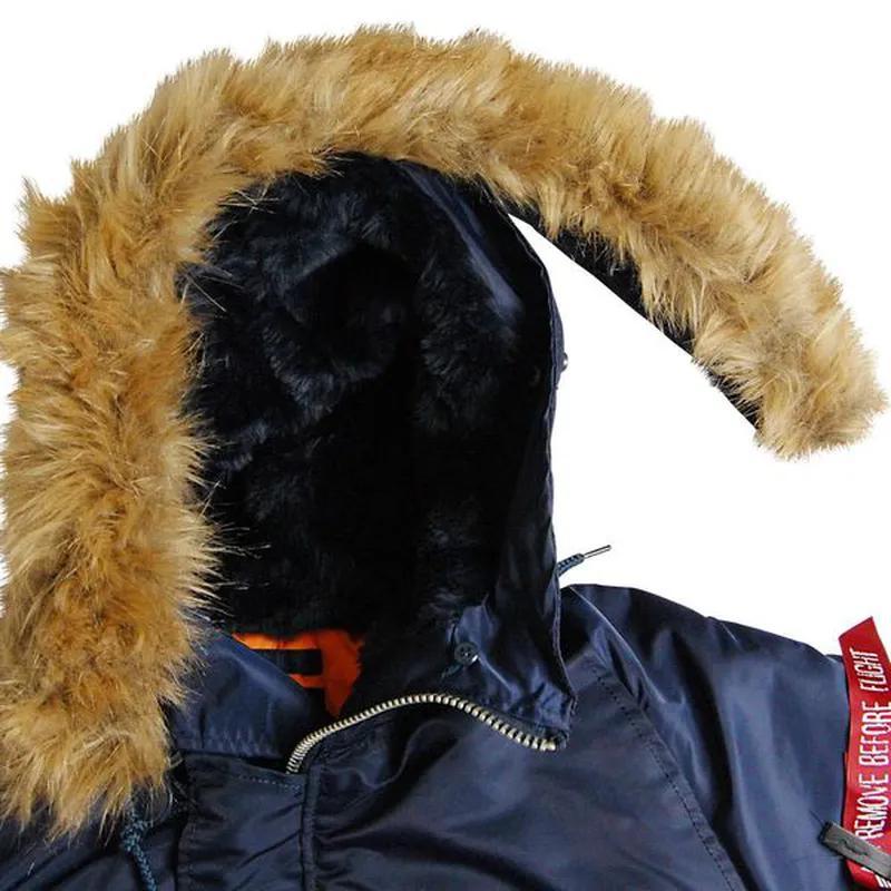 Куртка аляска Slim Fit N-3B Parka (синя) - Фото 4