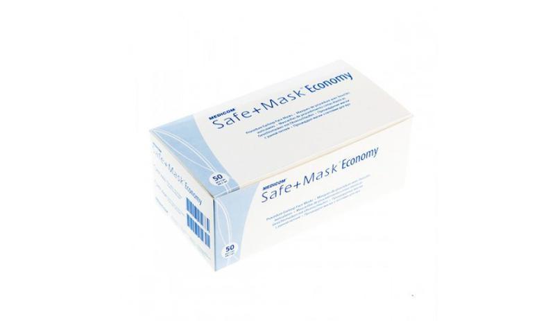Защитная трёхслойная маска Medicom, в упаковке 50 шт