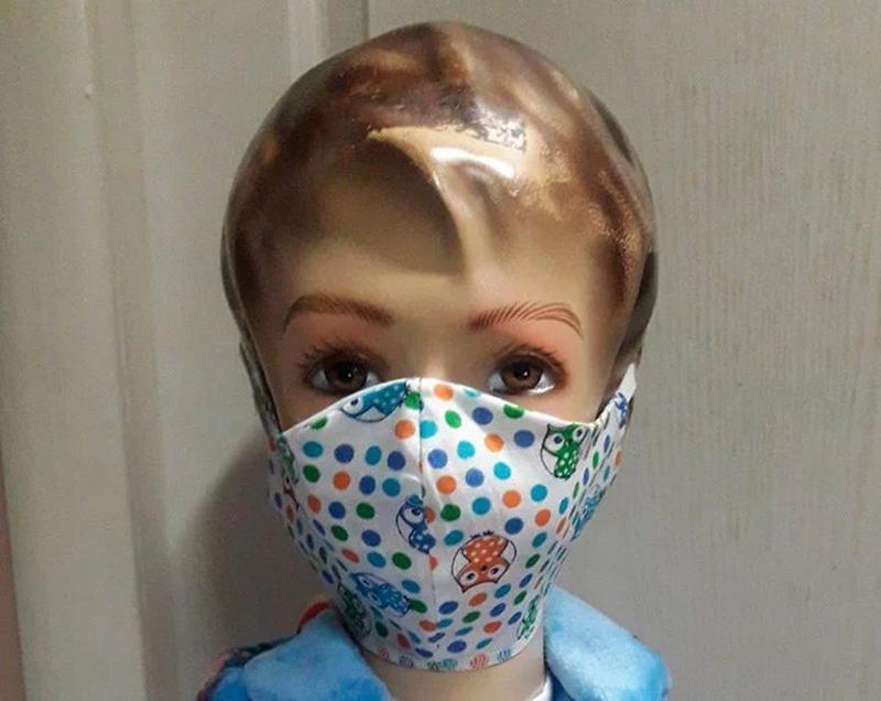 Маска защитная Тканевая Многоразовая Детская