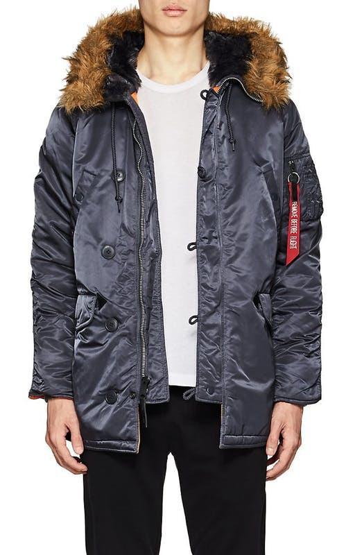 Куртка аляска Slim Fit N-3B Parka Alpha Industries (steel blue) - Фото 2