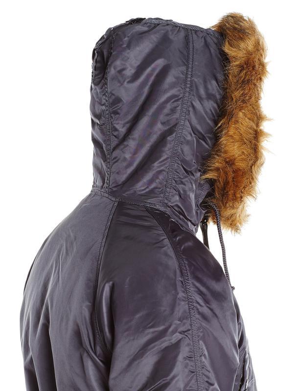 Куртка аляска Slim Fit N-3B Parka Alpha Industries (steel blue) - Фото 4