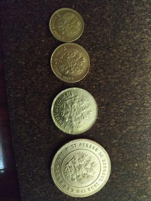 Царские копии монет. Золотые монеты, серебряные.