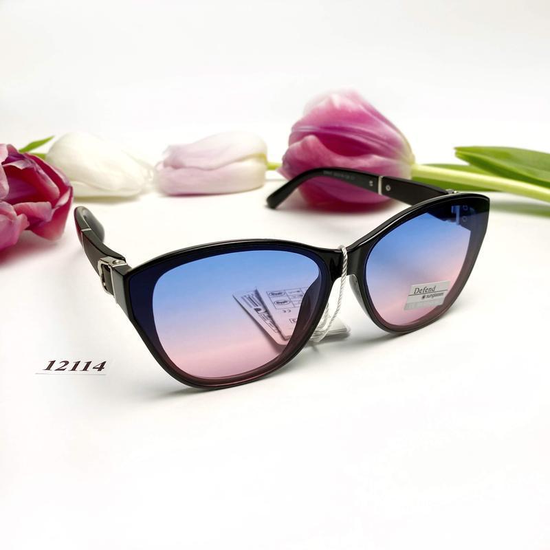 Солнцезащитные очки с цветными линзами к.12114 - Фото 2