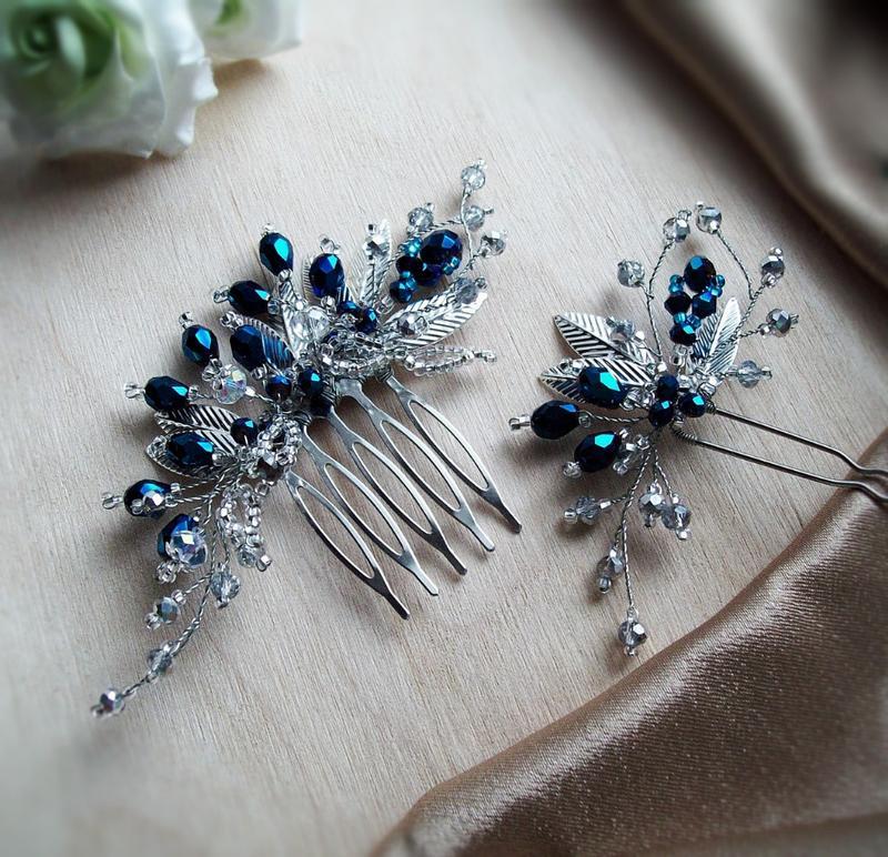 """Комплект- """"мия"""" в насыщенно синем цвете- бесплатная доставка - Фото 2"""