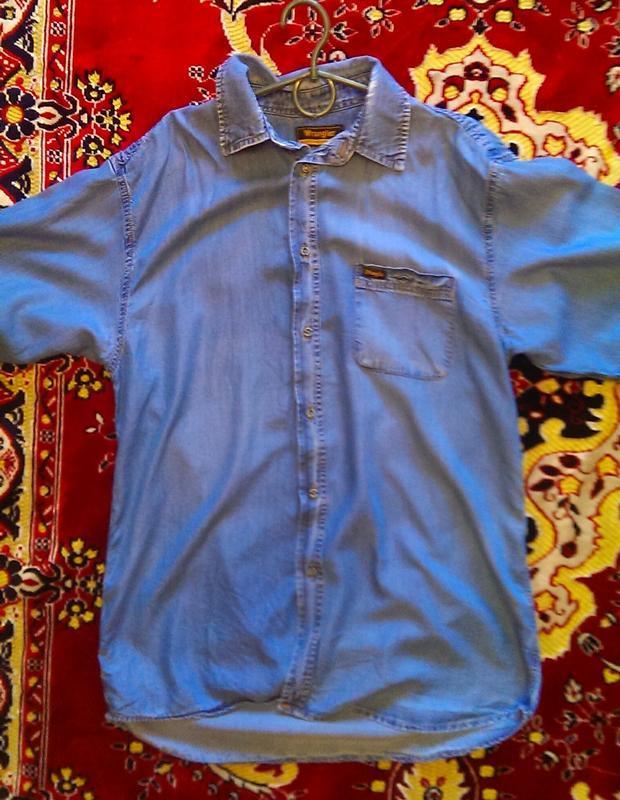 Фирменная джинсовая рубашка - Фото 4