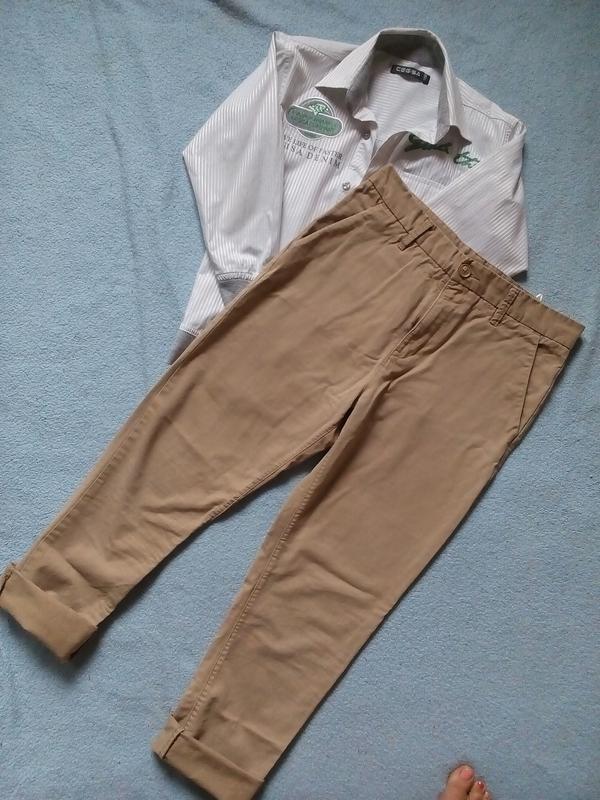 Стильные модные брюки чинос штаны чиносы 12-13 лет