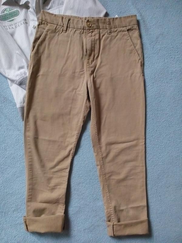 Стильные модные брюки чинос штаны чиносы 12-13 лет - Фото 2