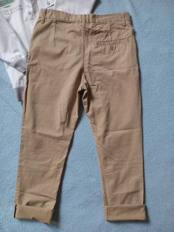 Стильные модные брюки чинос штаны чиносы 12-13 лет - Фото 3