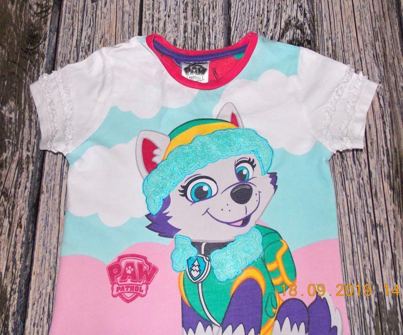 Фирменная футболка tu для девочки 3-4 года,98-104 см