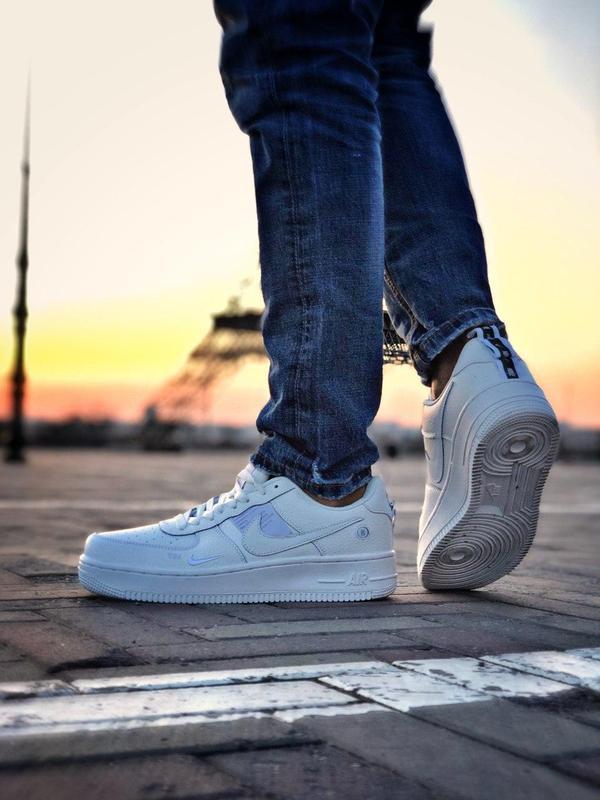 Мужские кроссовки nike air force 1 white 😍 - Фото 4