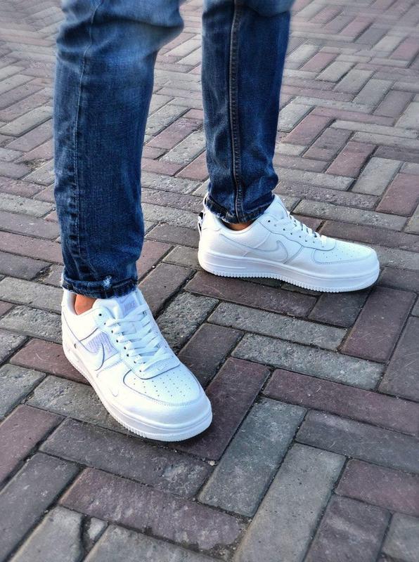 Мужские кроссовки nike air force 1 white 😍 - Фото 8