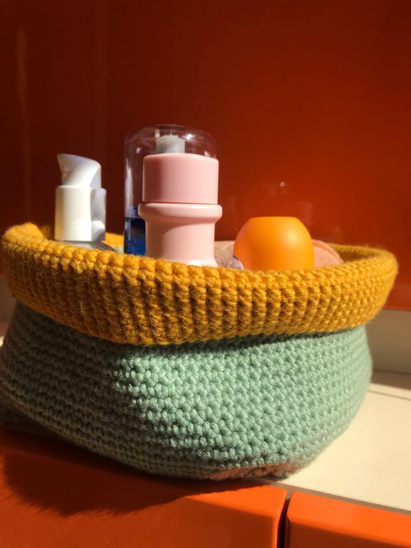 Органайзер вязанный корзинка для хранения мелочей - Фото 2