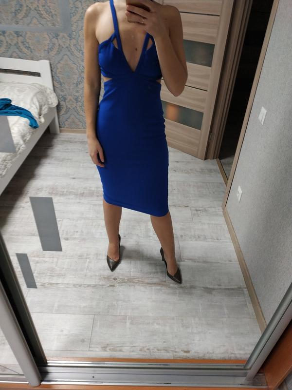 Вечернее новое с биркой шикарное платье миди - Фото 4
