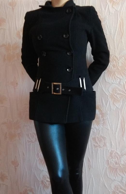 Красивое кашемировое пальто чёрного цвета belanti р. 44