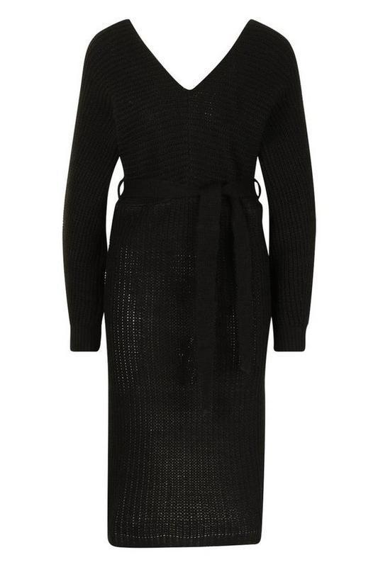 Boohoo. товар из англии. платье джемпер с поясом. - Фото 2