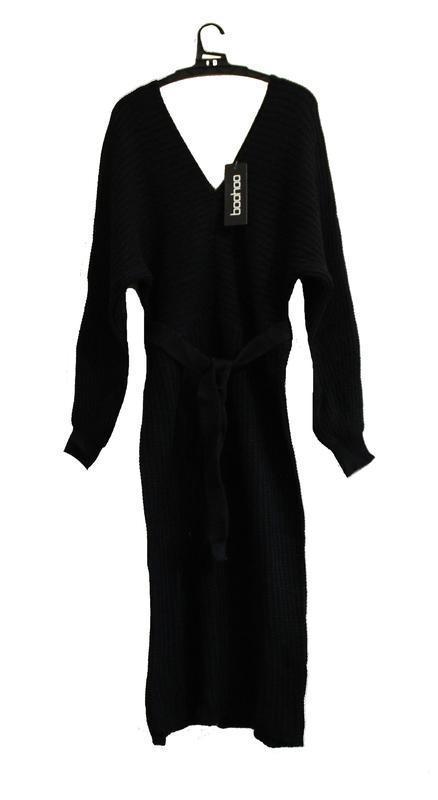 Boohoo. товар из англии. платье джемпер с поясом. - Фото 3
