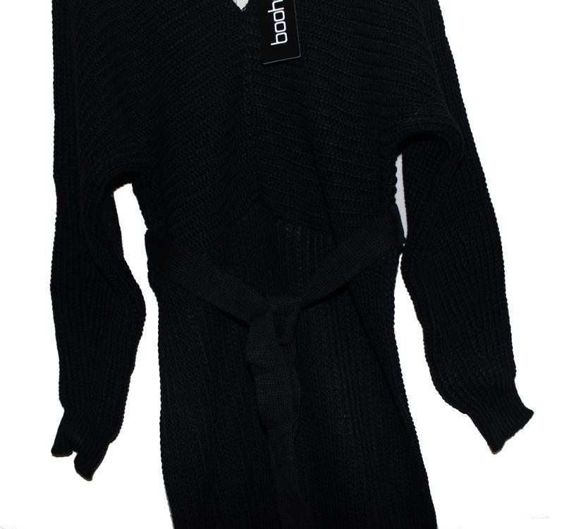 Boohoo. товар из англии. платье джемпер с поясом. - Фото 4