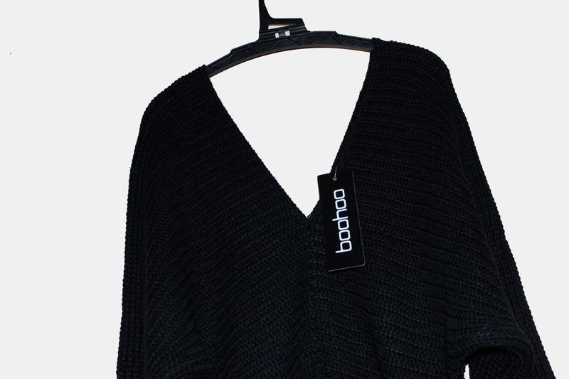 Boohoo. товар из англии. платье джемпер с поясом. - Фото 5