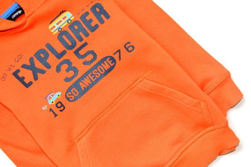 George. яркое оранжевое худи на парня 2-3 года. рост 92-98 см - Фото 7