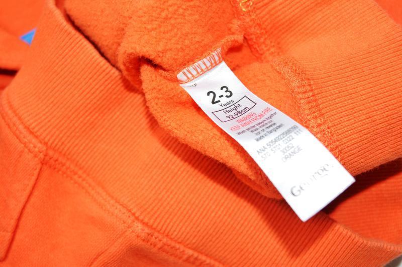 George. яркое оранжевое худи на парня 2-3 года. рост 92-98 см - Фото 9