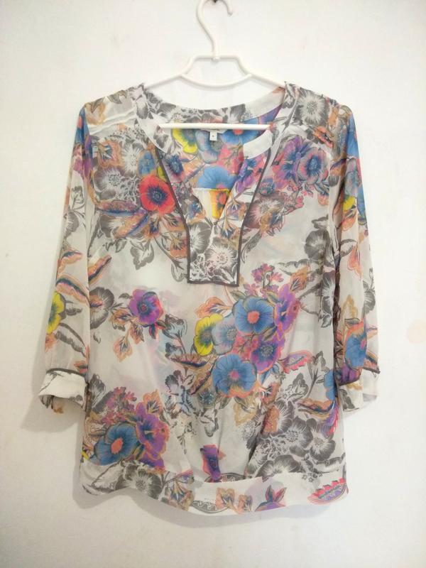 Милая, легкая шифоновая блуза в цветочек next
