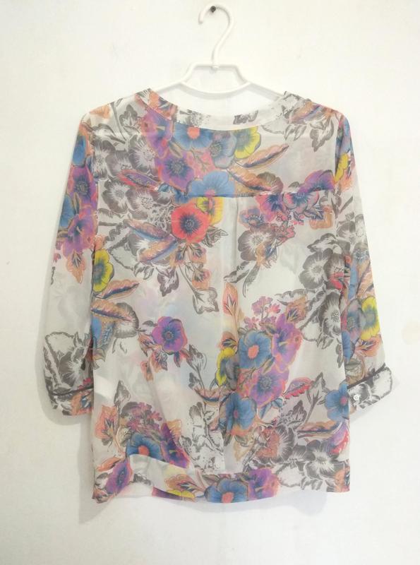 Милая, легкая шифоновая блуза в цветочек next - Фото 2