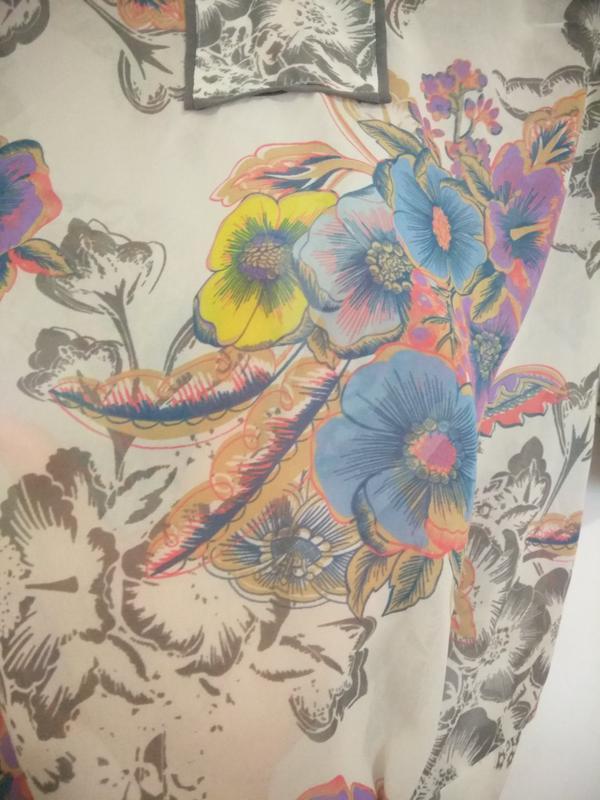 Милая, легкая шифоновая блуза в цветочек next - Фото 3
