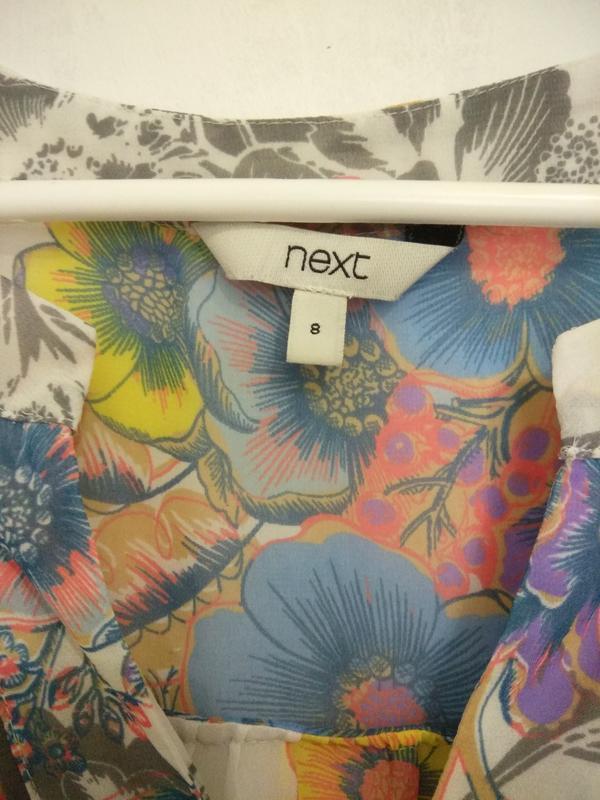 Милая, легкая шифоновая блуза в цветочек next - Фото 4