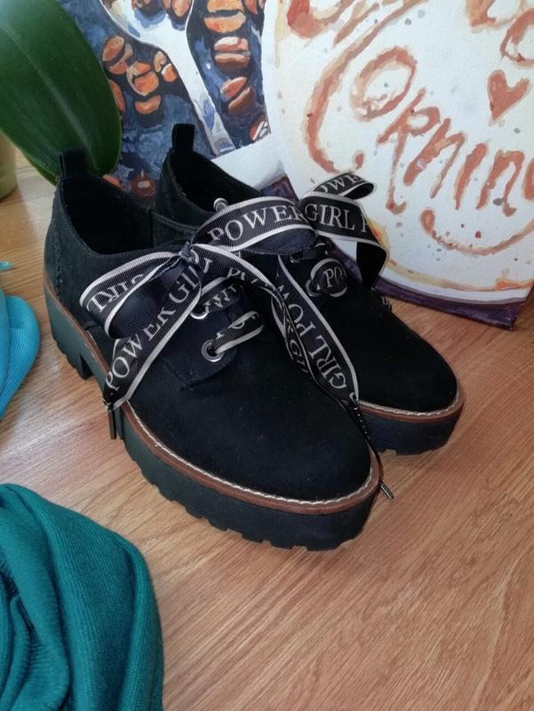 #розвантажуюсь женские туфли экозамша на грубой подошве stradi...