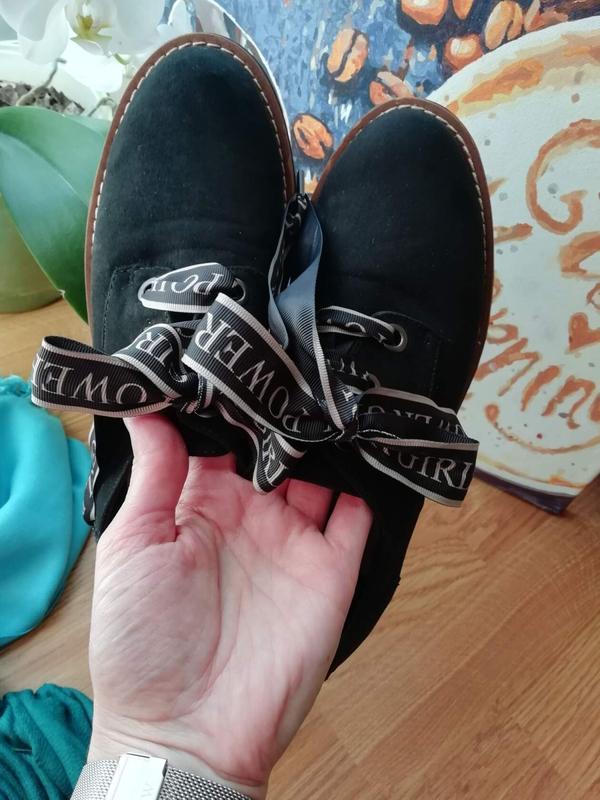 #розвантажуюсь женские туфли экозамша на грубой подошве stradi... - Фото 6