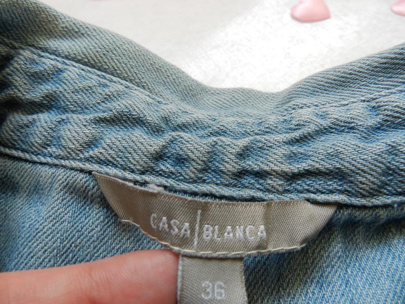 ✅ рваная джинсовая жилетка с жемчугом - Фото 3