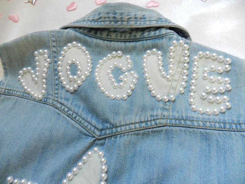 ✅ рваная джинсовая жилетка с жемчугом - Фото 4