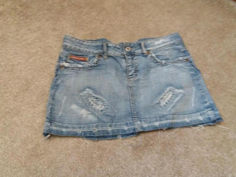 Джинсовая юбка бренд-peplay--м л   №99