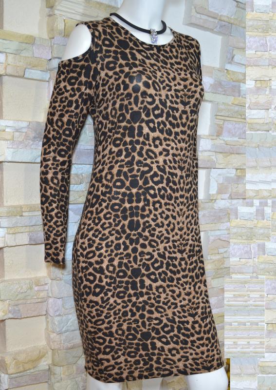 Трикотажное платье с леопардовым принтом 1000 пар обуви тут! - Фото 2