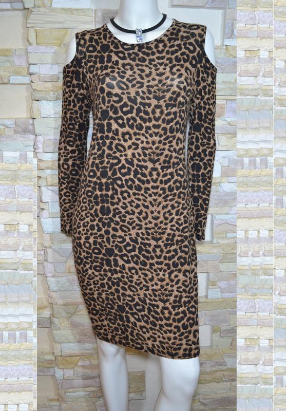 Трикотажное платье с леопардовым принтом 1000 пар обуви тут! - Фото 3