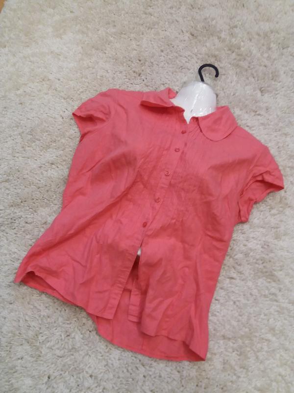Яркая  рубашка   №17  на48-50р     лен       распродажа