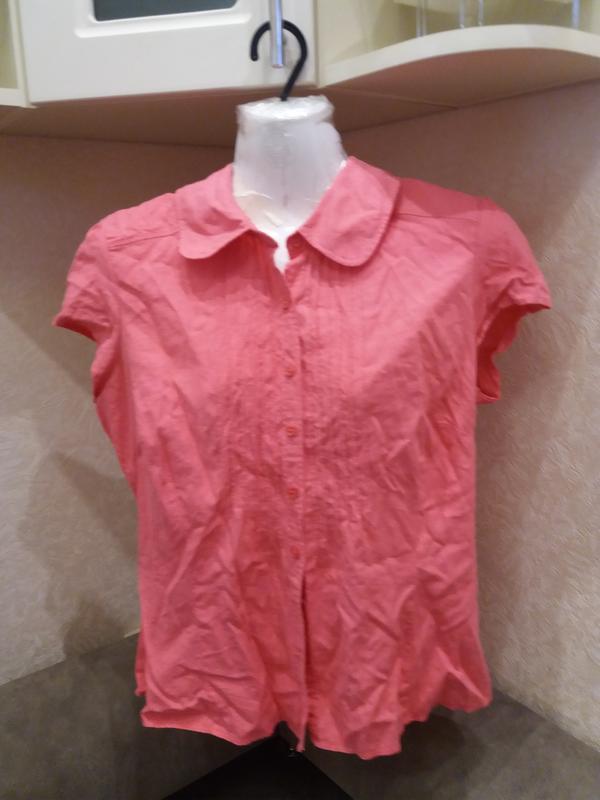 Яркая  рубашка   №17  на48-50р     лен       распродажа - Фото 3