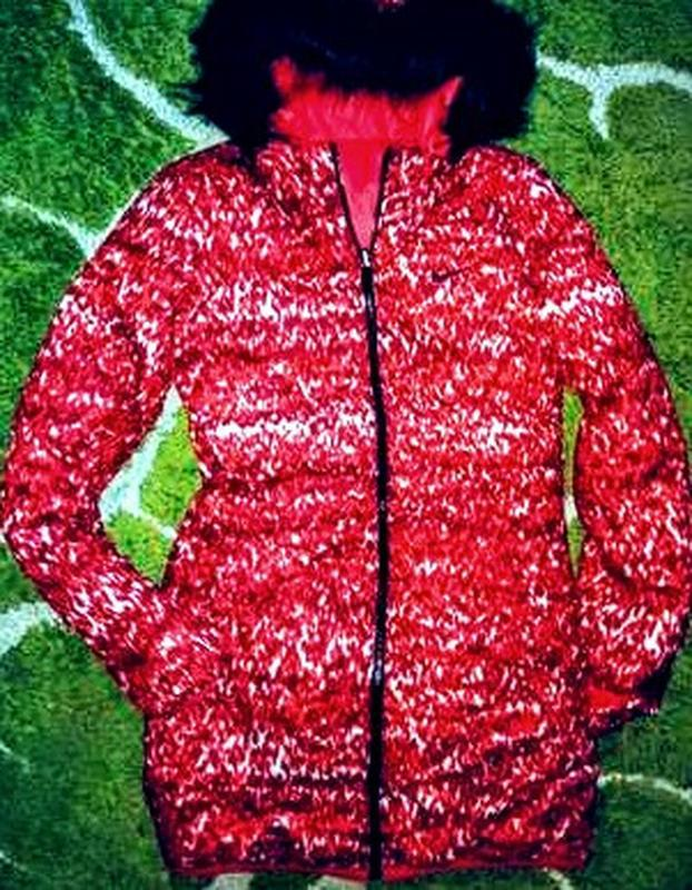 Пуховик женский nike оригинал удлинённая куртка двухсторонняя ... - Фото 4