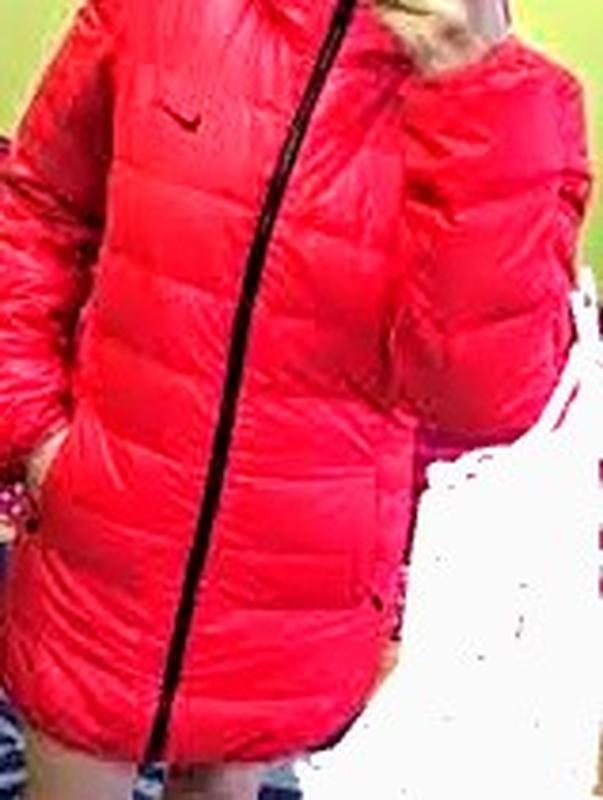 Пуховик женский nike оригинал удлинённая куртка двухсторонняя ... - Фото 6