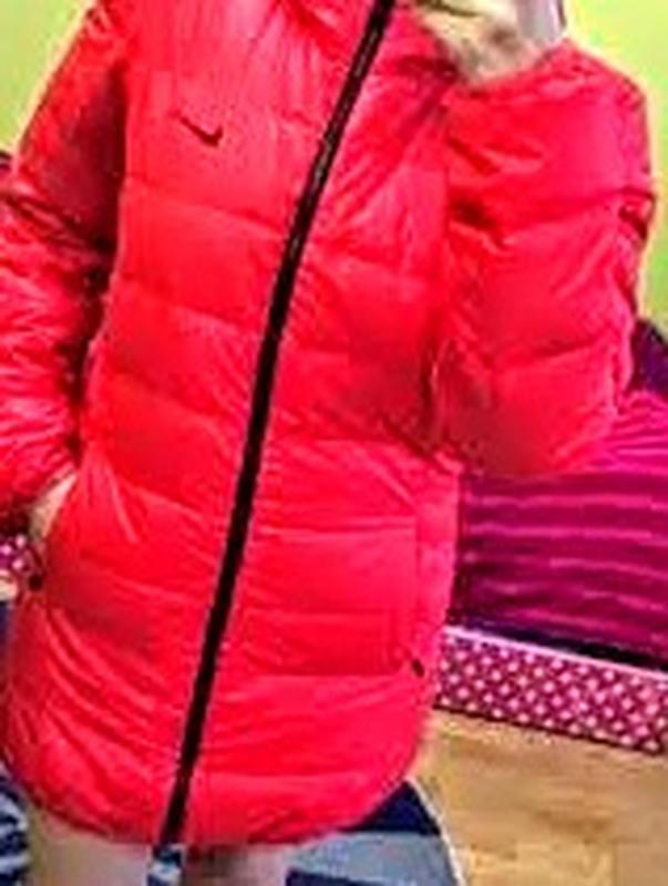 Пуховик женский nike оригинал удлинённая куртка двухсторонняя ... - Фото 8