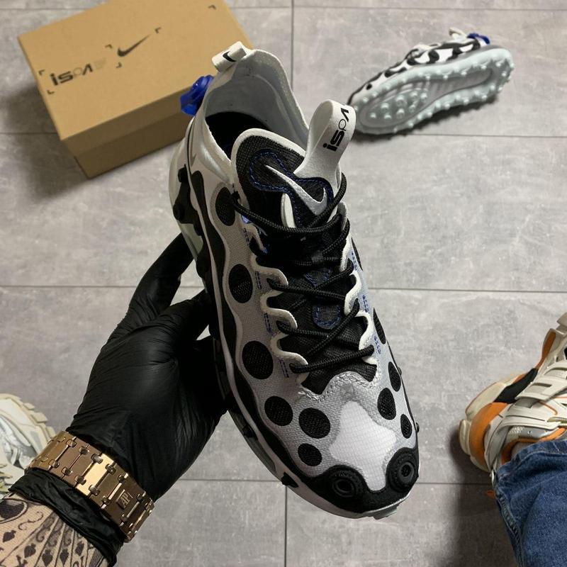 Nike air max 720 ispa white black. - Фото 3