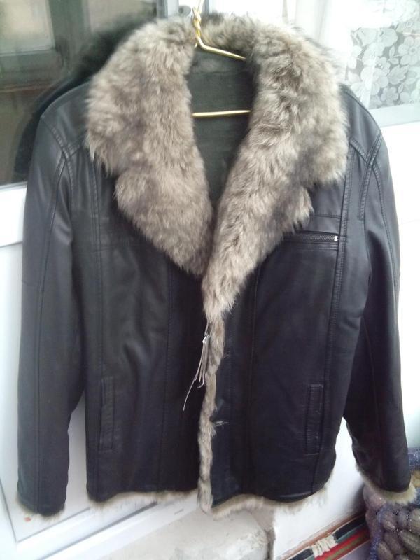 Куртка зимняя кожаная, дублёнка, новая, размер 52