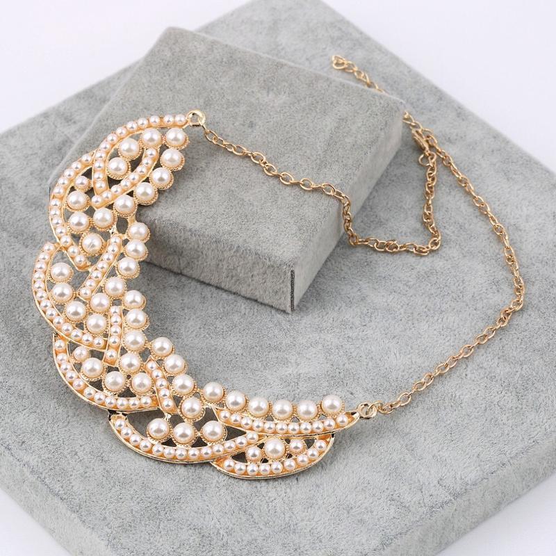 Женственное жемчужное летнее ожерелье чокер колье - Фото 2