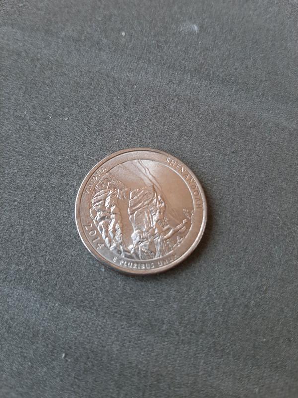 25 центов США 2014 Shenandoah